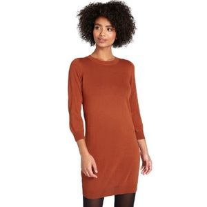Modcloth Knit the Mark Sweater Dress in Rust